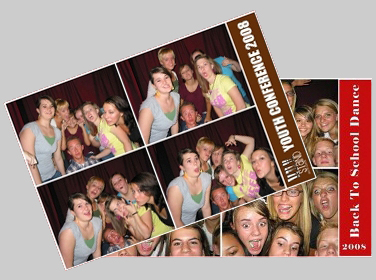 photo booth strip samples from Las Vegas dances
