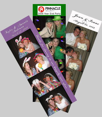 photo booth strip samples from Utah events